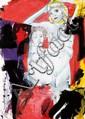 Luciano Castelli (né en 1951) Sans titre, 2005 Huile et fusain sur papier marouflé sur toile Signé et daté en bas à gauche Oil and c...