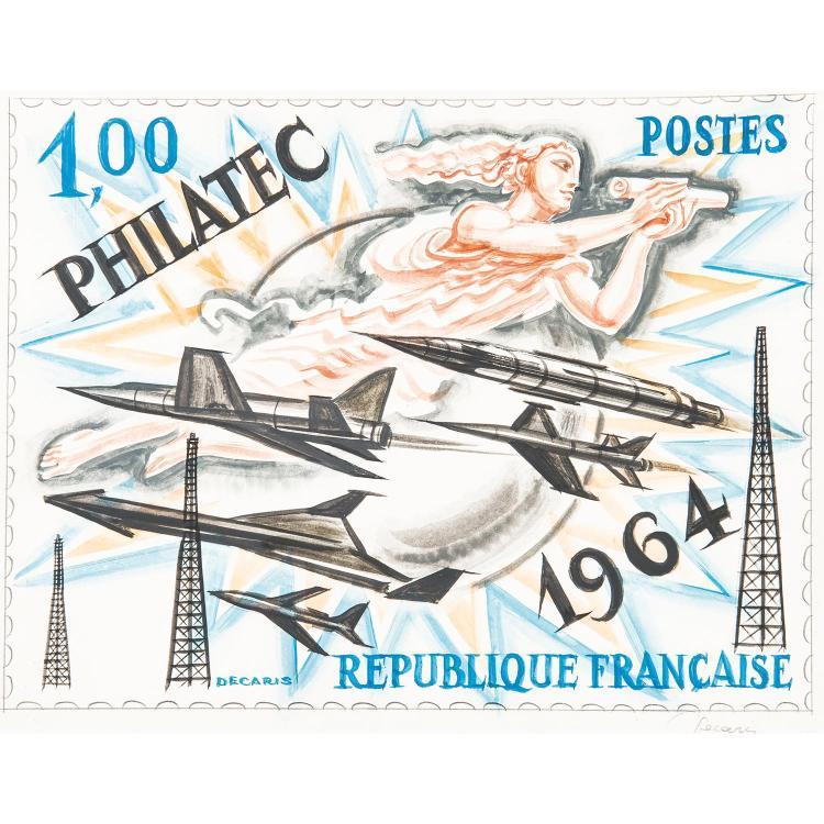 Aquarelle - Projet non adopté pour le timbre du bloc-feuillet