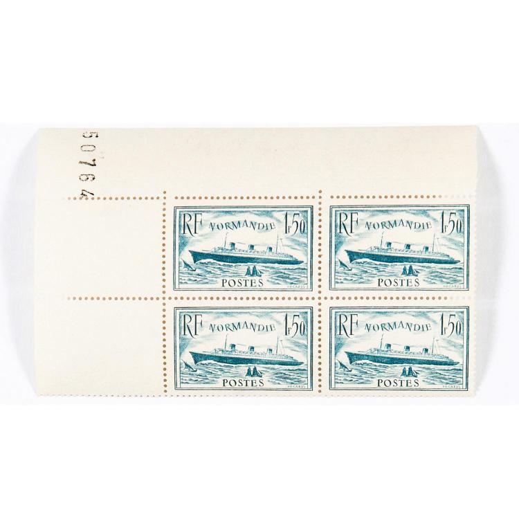 Idem - Épreuve d'artiste de la rare couleur bleu-vert du timbre