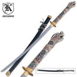 Generation Dragon Katana Sword When you see the beauty of this sword, you'll have to have your own! This beautiful katana demands attention! It combines the katana's trademark characteristics of artistic craftsmanship and deadly weaponry!