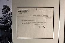 Adolf Hitler (1889-1945) Typed and Signed Letter Display
