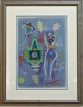 Henry Miller (1891-1980) Watercolor 'Hindu Wedding'