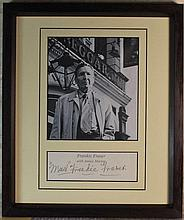 Frankie MAD Fraser Signed Display