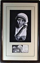 Mother Teresa Signed Display
