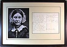 Florence Nightingale (1820-1910) Handwritten Signed Letter