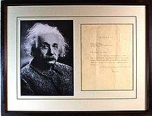 Albert Einstein Signed Letter (1879-1955).