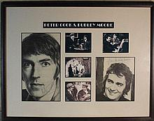 Peter Cook and Dudley Moore Signed Display