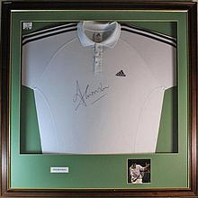 Tim Henman Signed Shirt presentation