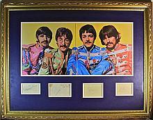 Beatles Autographs Sgt Peppers Presentation signed