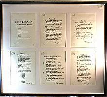 John Lennon Lyric Portfolio, The Beatles Years