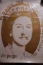 Sex Pistols God Save the Queen Jamie Reid 4/5