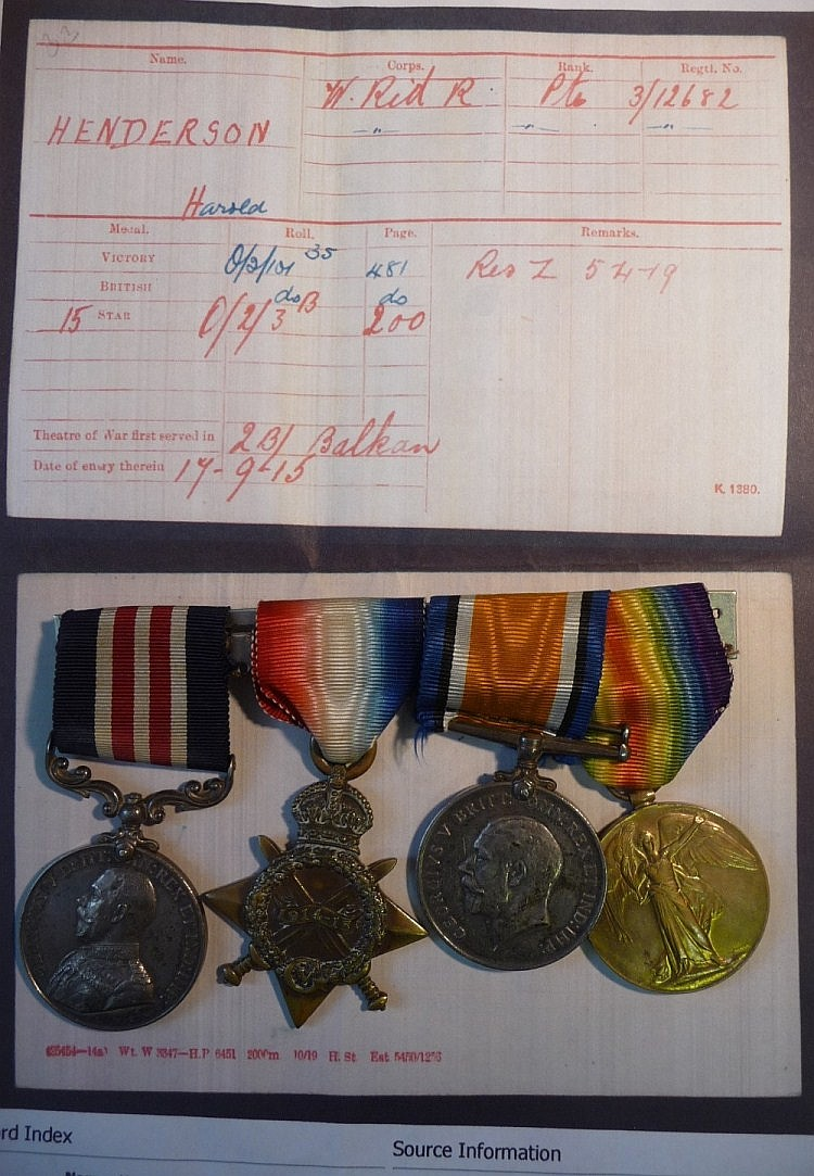 Medals : A First World War Gallantry Group of Four