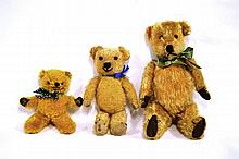 Chiltern Jointed Teddy Bear with yellow plush,