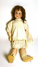 SFBJ Bisque Socket Head Doll impressed '12' with