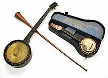 Mixed Instruments, including two banjos, brass