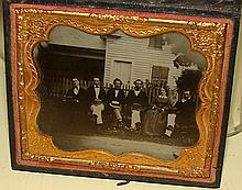 Antique Photograph Unusual Outdoor Scene Ambrotype