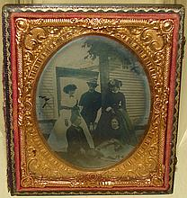 Antique Photograph Ambrotype Outdoor Scene