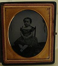 Antique Photograph Ambrotype - Seated Child