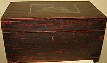 American Antique Folk Art Painted Box -Tory Loyali