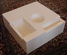 Fiberglass Coffee Table w/ Compartments Ca. 1970s