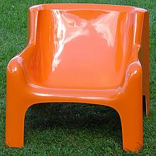 Modern Design  Arm Chair - Fiberglass - Ca. 1970