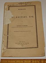 Eli Whitney Original Autograph on 1846 Memoir