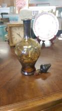 Vintage Blown Amber Glass Decanter