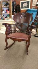 Fancy Antique Victorian Spindle Rocking Chair