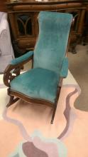 Antique Walnut Lincoln Style Rocking Chair