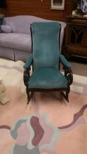 Antique Mahogany Lincoln Style Rocking Chair