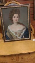 Antique Oil Painting on Canvas Portrait of Woman