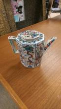Occupied Japan Porcelain Teapot in Imari Colors