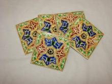 4 Decorative Ceramic Mexican Tiles