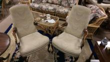 2 Queen Anne Style Cherry Lolling Chairs