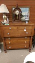 Antique American Cherry 6 Drawer Chest