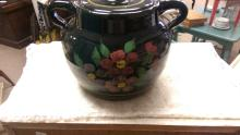 Yellow Ware Bean Pot Cookie Jar