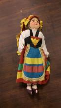 Hand Painted Composition Ethnic Doll