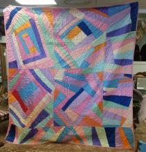 Rare Crazy Quilt - 1930s - Bright Colors