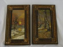 Two HG Aitken Oil Paintings on Artist Board