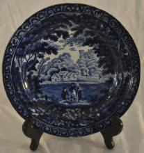 Clews Staffordshire Plate in Historical Blue