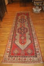 Handmade Oriental Carpet Runner Twentieth Century