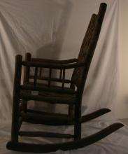 Rustic Adirondack Style Rocking Chair