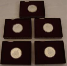 Coin Lot of 5 Proof Silver Comm. Washington Halves