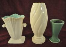 Lot of Three Art Pottery Vases