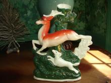 Antique English Staffordshire Ceramic Spill Vase