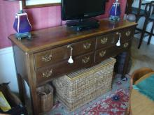 Cherry Chippendale Style 4 Drawer Server