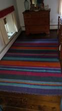 Flat Weave Carpet 5' x 8' Colorful Stripes