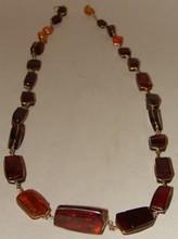 14K & Honey / Cherry Amber Necklace -19.7 g - 24 I