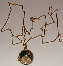 Bucherer Pendant / Orb Watch on Chain - Hand Paint