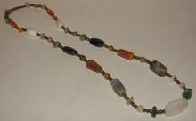 Vintage / Antique Agate Stone Necklace - 24 Inch